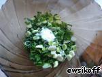 Оладьи с зеленым луком и рисовыми хлопьями – кулинарный рецепт