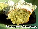 Готово! Для вкуса и красоты сверху смазала творожным сыром с зеленью. Приятного аппетита!