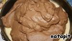 Нанести ровным слоем на застывший апельсиновый крем, накрыть и поместить в холодильник на ночь.