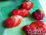 Strawberries cut into thin slices.
