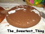 Шоколадный бисквит.