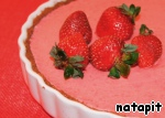 Put in the refrigerator before full hardening of the mousse before serving decorate with fruit.