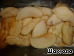 Put apples all over the dough.