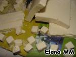 Feta cut into cubes,