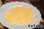 Yolks - grated smaller.