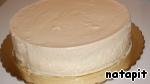 Застывший торт освободить от формы. Я очень быстро прогреваю бока, обдувая их феном.