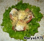 Lay on lettuce leaves, sprinkle with grated cheese
