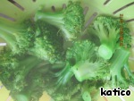 Broccoli also boil until tender in salted water, recline in a colander, allow the liquid to drain