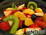 Mix the fruit in a small bowl.