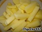 Картофель нарезать соломкой