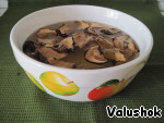 Soak dry mushrooms for 2 hours in water.