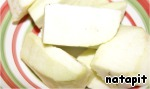 Cream:  Eggplant peel, cut into pieces and freed from the seeds.