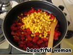 Add canned sweet corn, salt, pepper to taste and  cook for another 5 minutes.