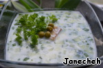 Add the peas, the prepared vegetables and the fish, parsley or dill. Soup serve immediately. Bon appetit!