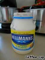 Mayonnaise easy to mix.