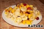 Cut fruit slices.