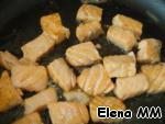 Season with salt, sauté until tender in butter, put in a separate container.