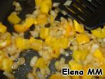 Add to the onions, fry for another 2 minutes, then pour in the potatoes.