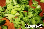 Broccoli divided into inflorescences.