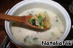 Add to soup, broccoli, corn, thyme and cream. Cook until cooked broccoli and potatoes, about 8-10 minutes.