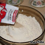 Combine the flour with the yeast,