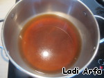 In the broth add the soy sauce, wine and sugar.  OOO!  The scent is more intense.  Standing and just enjoying