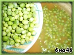 Green peas I pre-washed and dried, it is put in a pan with extra vegetables. Cook for 10 minutes, stirring occasionally, over medium heat.