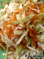 Vegetables finely cut into strips, the thinner the better.