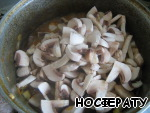 Then add the mushrooms, stir, simmer 10 minutes.