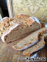 So fast and simple, readily available ingredients, we get a delicious soft bread with a hard crust. Bon appetit!