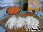 Meanwhile, slice the carrots and onions into small cubes.  Brew to boil (SAF-brew before you need to prepare according to the recipe specified on the packaging).
