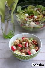 Dressed salad.