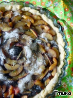 Sprinkle tart with rosemary sugar.  Place in oven and bake for about 25 minutes.