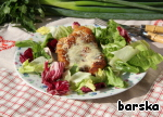 Serve with a salad.  The Bavarians recommend to garnish potato salad.  We prefer green.
