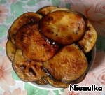 Eggplant fry in vegetable oil on both sides.