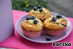 Decorate the cupcakes with melted white chocolate and put fresh berries on top.   Bon appetit!