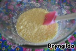 Blend butter with sugar and add egg.