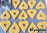 With the help of cookie cutter cut the biscuits and bake in the oven at 180 degrees for 15-20 minutes.