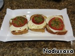 Once the cheese is melted, the food is ready! Sandwiches spread on a beautiful dish and serve.  Enjoy all!