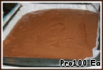 6. Protiven grease with oil, cover with paper, grease paper with butter and sprinkle with flour. Pour in the batter. Bake for 22-25 minutes at 180C.
