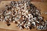 Nuts (I used half walnuts and peanuts) chopped.