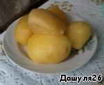 2) Отварить картофель в мундире и отчистить.