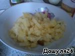 3) Мелкими кубиками порезать картофель.