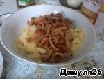 4) Add the mushrooms.