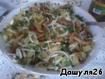 6) Stir.   7) Add mayonnaise. If you do not want mayonnaise, you can make this salad with the oil. Will be very good.
