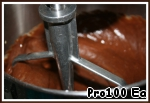 3. Add the melted chocolate (slightly cooled) and mix until smooth.