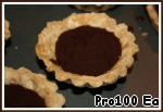 6. Baskets to fill with chocolate filling and refrigerate for 40 minutes.
