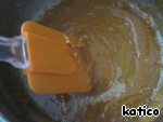 Remove the caramel from heat, add to the butter and stir intensively. If the caramel will take lumps, nothing - then all will dissolve!