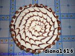 Then I dried hazelnuts in the oven, decorated them a cake. You can decorate to your taste.