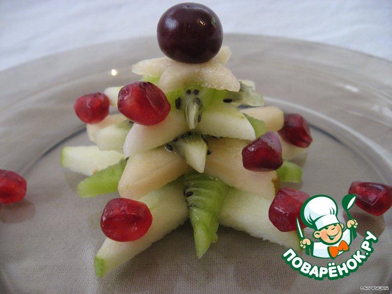 Новогодняя фруктовая елочка